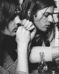 David Gilmour and Richard Wright