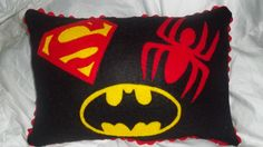 SuperHero Felt Pillow