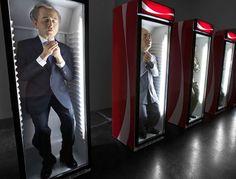 Eugenio Merino Sculpted Infamous Politicians in Coca-Cola Coolers #design #ideas trendhunter.com