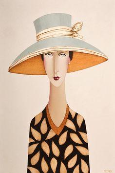 Annette and the Blue Hat, by Danny McBride Charming Character illustration / Art Photografy Art, Danny Mcbride, Illustration Art, Illustrations, Character Illustration, Illustration Fashion, Modigliani, Banksy, Portrait Art