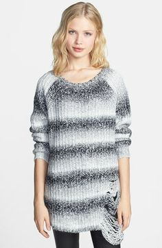 ELEVENPARIS 'Tinter' Destroyed Marled Sweater available at #Nordstrom