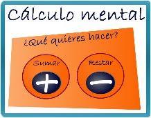 Tic calculo mental de sumas y restas. http://primerodecarlos.com/primerodecarlos.blogspot.com/octubre/calculo_mental/SumaRandom.swf