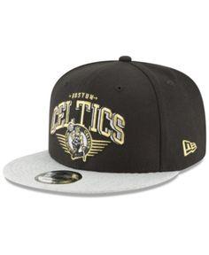 d596ff4e3a9 New Era Boston Celtics Gold Mark 9FIFTY Snapback Cap - Gray Adjustable