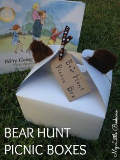 We're Going on a Bear Hunt Picnic Box_ My Little Bookcase -- what a fun activity for the book!