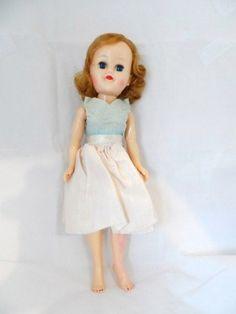 "10"" Walker Doll - Sleepy Eyes-Vogue Style Dolly-Hard Plastic-Blue Eyes-Strawberry Hair-Painted Nails-Red Lipstick-Orphaned Treasure-020617I by OrphanedTreasure on Etsy"