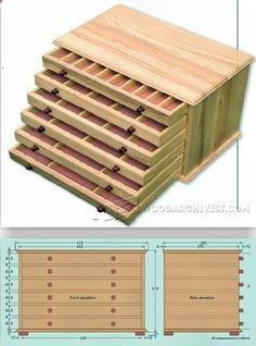 Collectors Chest Plan - Woodworking Plans, Woodworking Projects   WoodArchivist.com