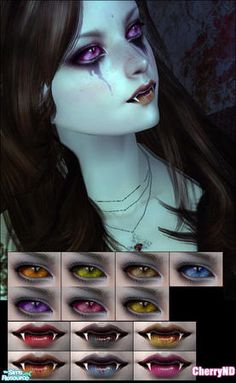 CherryND's vampire makeup. I like the idea with the eyes
