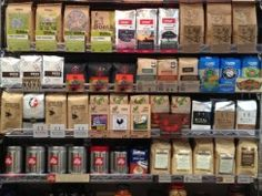 9th Street's Impressive Coffee Wall! We got your caffeine needs covered!