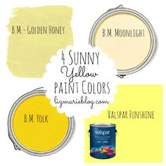 The best yellow paint colors for all of your DIY projects at lizmarieblog.com