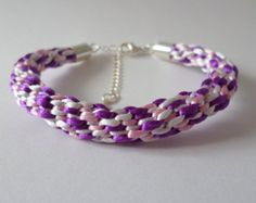 Purple Fire Kumihimo Rope by tonilovesbeads on Etsy
