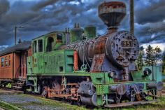 This train stands on the yard of an old railway station in Tuuri, Töysä. You can actually spend a night in the carriage. As you can see, t. Photoshop Elements, Hdr, Abandoned, Transportation, Purpose, The Past, Things To Come, Train, Night