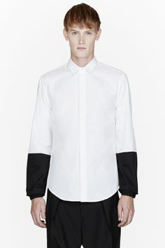 PUBLIC SCHOOL White black-paneled shirt
