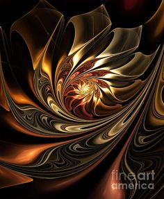 Wonderful Fractal Digital Art called Autumn Reverie Abstract by Zeana Romanovna.