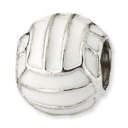 Volleyball Pandora Charms in white or silver