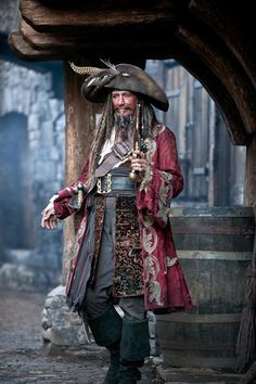 *KEITH RICHARDS is Captain Teague, a legendary pirate in his own right who occasionally re-appears in the life of his son who followed in his buccaneering footsteps, Captain Jack Sparrow (Johnny Depp). Photo: Peter Mountain. © Disney Enterprises