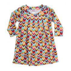 Zig Zag Toddler Pleat Dress
