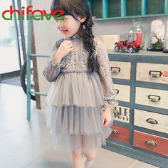 Chifave 2017 New Spring Summer Girls Dress Clothes Long Sleeve Lace Turtleneck Layered Dress Back Zipper Fashion Girls Dress-in Dresses from Mother & Kids on Aliexpress.com | Alibaba Group