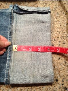 Simple and easy way to hem your jeans and keep the original hem. I did this without a sewing machine and still finished in no time...a sewing machine would be nice though :)