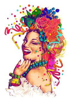 beautiful illustration of carmen miranda by the very talented nanda corrêa. Logic Album Cover, Rap Album Covers, Music Covers, Carmen Miranda, Images Pop Art, Logic Rapper, Pochette Album, Dangerous Minds, Art Music