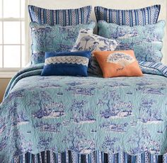 Hampstead Toile by C&F Quilts Toile Bedding, Bedding Sets, Comforter Cover, Duvet Covers, Drapery Panels, Decorative Cushions, Luxury Bedding, Pillow Shams, Comforters
