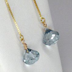 Mystic Blue Topaz Swing Earrings by simonebijoux. by simonebijoux, $50.00
