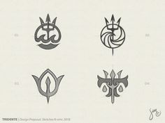 By Daily quality logo inspiration Poseidon Tattoo, Poseidon Trident, Poseidon Symbol, Trident Logo, Trident Tattoo, Future Tattoos, Tattoos For Guys, Dibujos Percy Jackson, Tattoo Minimaliste