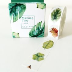 Leaves water color washi tape by o0FakeRain0o on Etsy