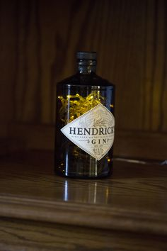 Upcycled Hendricks Gin Bottle Lamp 70cl