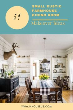 59+ Small Rustic Farmhouse Dining Room Makeover Ideas #farmhouse #farmhousediningroom Rustic Farmhouse, Farmhouse Style, Dining Table In Kitchen, Dining Room, Arched Windows, White Curtains, Rustic Decor, Countertops, Ideas