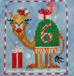 Animal Advent Calendar Day 6 Cashmere Camel.  Counted Cross Stitch. 2016
