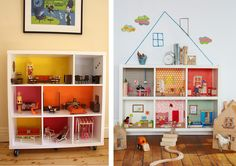 bookcase dollhouses --- what an awesome Idea for the future!