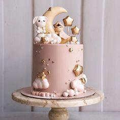 Baby Shower Cake - First bday - Kuchen Tortas Baby Shower Niña, Gateau Baby Shower, Baby Shower Cupcakes, Baby Shower Parties, Baby Shower Themes, Baby Showers, Baby Girl Cakes, Baby Birthday Cakes, Cake Baby