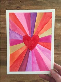 Paintings: Make Art with a Ruler Heart burst paintings for Valentine's! A great art project for kids, teens, and adults alike.Heart burst paintings for Valentine's! A great art project for kids, teens, and adults alike.