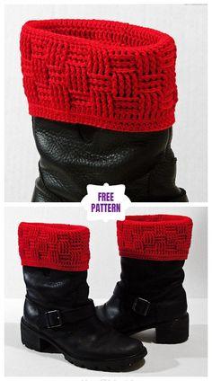 Ideas for crochet beanie free pattern boot cuffs Crochet Boot Cuff Pattern, Knitted Boot Cuffs, Crochet Boots, Crochet Beanie, Diy Crochet, Crochet Patterns, Crochet Top, Crochet Headbands, Knit Headband
