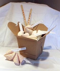 DIY fortune cookie boxes...easy and fun!