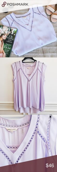 Rebecca Taylor Light Purple Short Sleeve Blouse Rebecca Taylor light purple short sleeve blouse. Like new condition! Size 10. Rebecca Taylor Tops Blouses