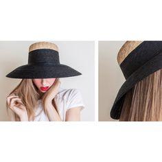 Straw Braid Capeline - Black / Look