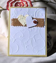 Handmade Card Birthday Anniversary Love Hearts door WallridgeFarm