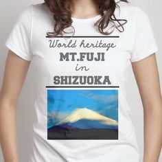 Fuji -World heritage- Japan - Women's Crew - designed by cool-rock using Snaptee Japan Woman, Cool Rocks, Personalized T Shirts, Fuji, T Shirts For Women, Tees, Design, Custom Tees, Custom T Shirts