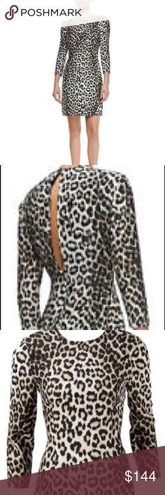 rag & bone silk leopard print dress All silk side zipper open back slit 3/4 sleeves PRICE FIRM rag & bone Dresses