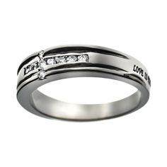 "Christian Womens Stainless Steel Abstinence ""Love is Patient, Love is Kind, Love Never Fails"" 1 Corinthians 13:4-8"