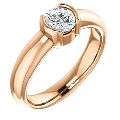 18K Rose Gold Round Cut Diamond Solitaire Engagement Ring — LIFETIME WARRANTY | Bling Hot Billion A New Level of Bling From the #1 Source fo...