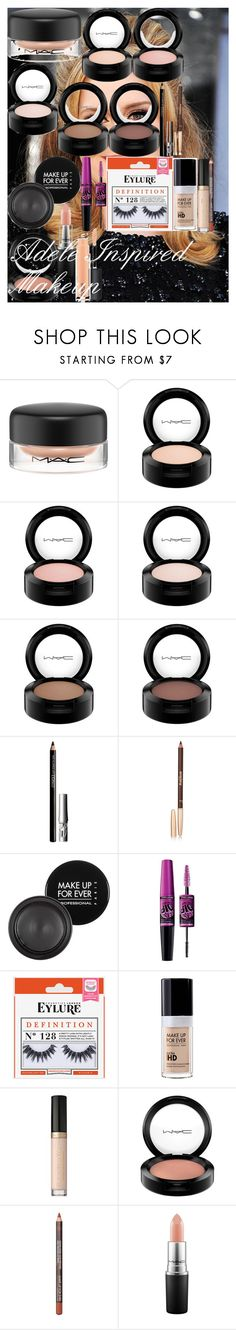 """""""Adele Inspired Makeup Tutorial"""" by oroartye-1 on Polyvore featuring beauty, MAC Cosmetics, Clinique, Sisley, MAKE UP FOR EVER, Maybelline and Too Faced Cosmetics"""