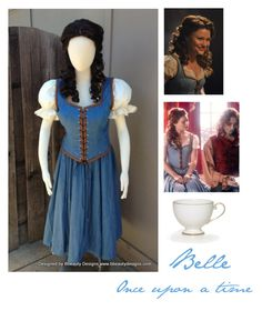 """""""Belle cosplay:) read description!!!!!!"""" by ginaisanerd ❤ liked on Polyvore featuring Once Upon a Time"""