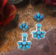 cbc81d01f 10 Top Turq earrings images in 2019 | Bracelets, Navajo jewelry ...