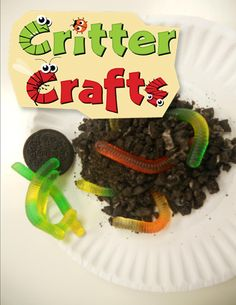 Halloween Party Food: Worms in dirt