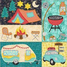 Retro Quilt 11 - Happy Camper
