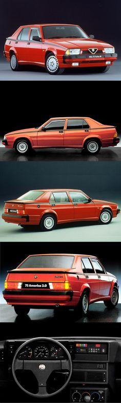 1985 Alfa Romeo 75 / red / Italy / 17-353