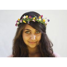 Flower Girl Hair Wreath - Woodland Pink, Yellow and Raspberry Mountian Wildflower Crown.