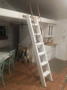 Ladder Stands, Library Ladder, Photo Library, Loft Stairs, Loft Railing, Tiny House Stairs, Attic Renovation, Floor Finishes, Stairways